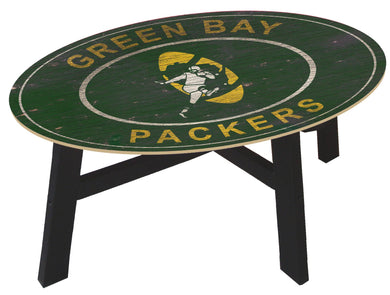 Green Bay Packers Heritage Logo Wood Coffee Table