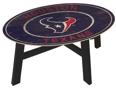Houston Texans Heritage Logo Wood Coffee Table