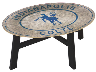 Indianapolis Colts Heritage Logo Wood Coffee Table