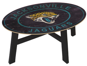 Jacksonville Jaguars Heritage Logo Wood Coffee Table