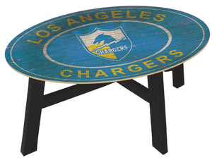 Los Angeles Chargers Heritage Logo Wood Coffee Table