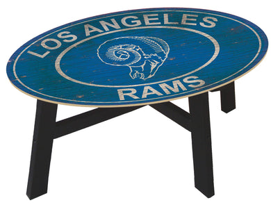 Los Angeles Rams Heritage Logo Wood Coffee Table