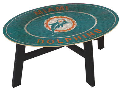 Miami Dolphins Heritage Logo Wood Coffee Table