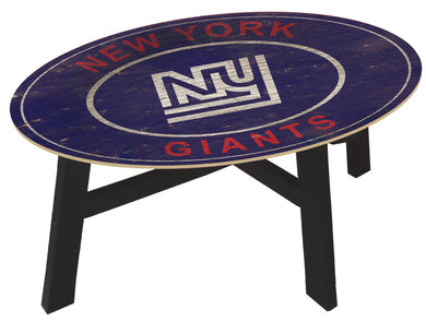 New York Giants Heritage Logo Wood Coffee Table