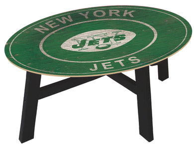 New York Jets Heritage Logo Wood Coffee Table
