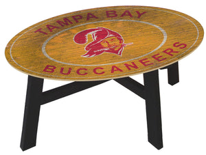 Tampa Bay Buccaneers Heritage Logo Wood Coffee Table