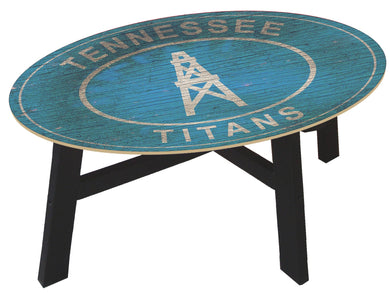 Tennessee Titans Heritage Logo Wood Coffee Table