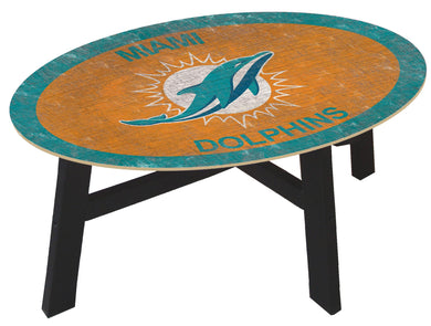 Miami Dolphins Color Logo Coffee Table