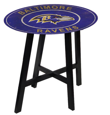 Baltimore Ravens Heritage Logo Pub Table