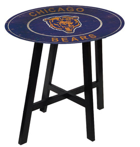 Chicago Bears Logo Heritage Logo Pub Table