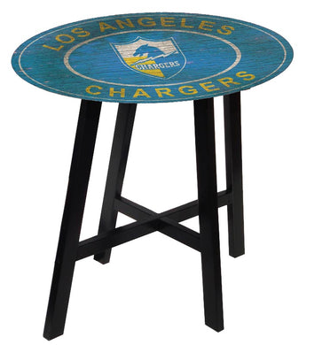 Los Angeles Chargers Heritage Logo Pub Table
