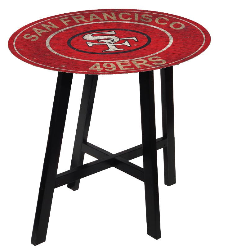San Francisco 49ers Heritage Logo Pub Table