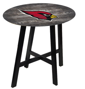 Arizona Cardinals Distressed Logo Pub Table