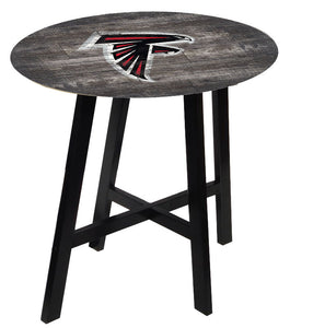 Atlanta Falcons Distressed Logo Pub Table