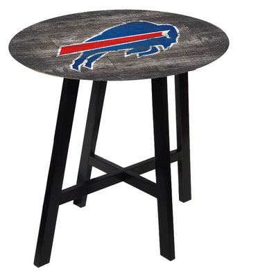 Buffalo Bills Distressed Logo Pub Table