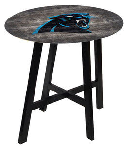 Carolina Panthers Distressed Logo Pub Table