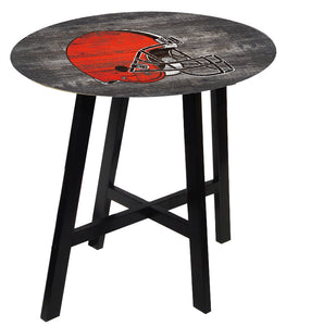 Cleveland Browns Distressed Logo Pub Table
