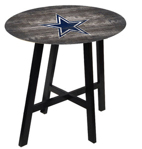 Dallas Cowboys  Distressed Logo Pub Table