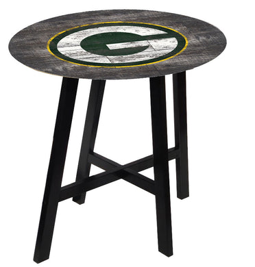 Green Bay Packers Distressed Logo Pub Table