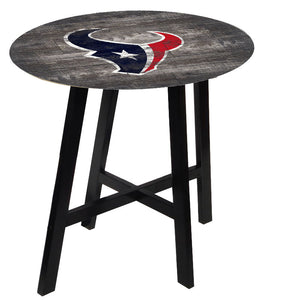 Houston Texans Distressed Logo Pub Table