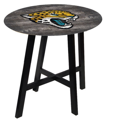 Jacksonville Jaguars Distressed Logo Pub Table