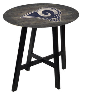 Los Angeles Rams Distressed Logo Pub Table