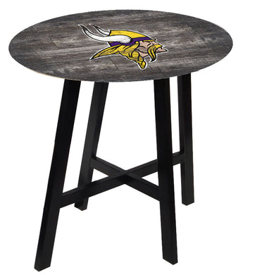 Minnesota Vikings Distressed Logo Pub Table