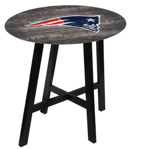 New England Patriots Distressed Logo Pub Table