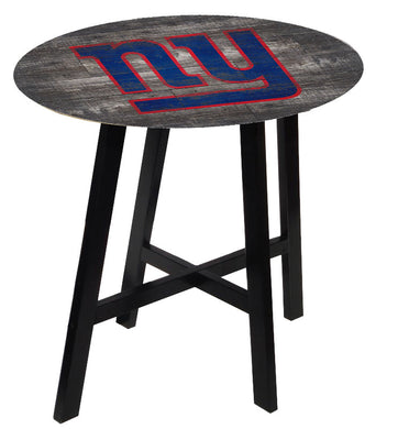 New York Giants Distressed Logo Pub Table