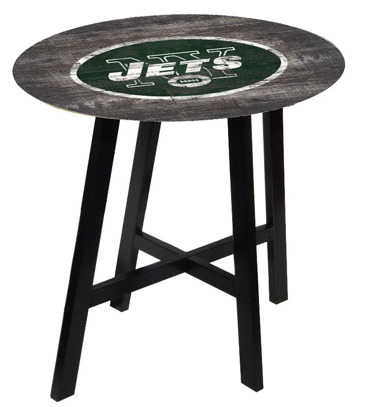 New York Jets Distressed Logo Pub Table