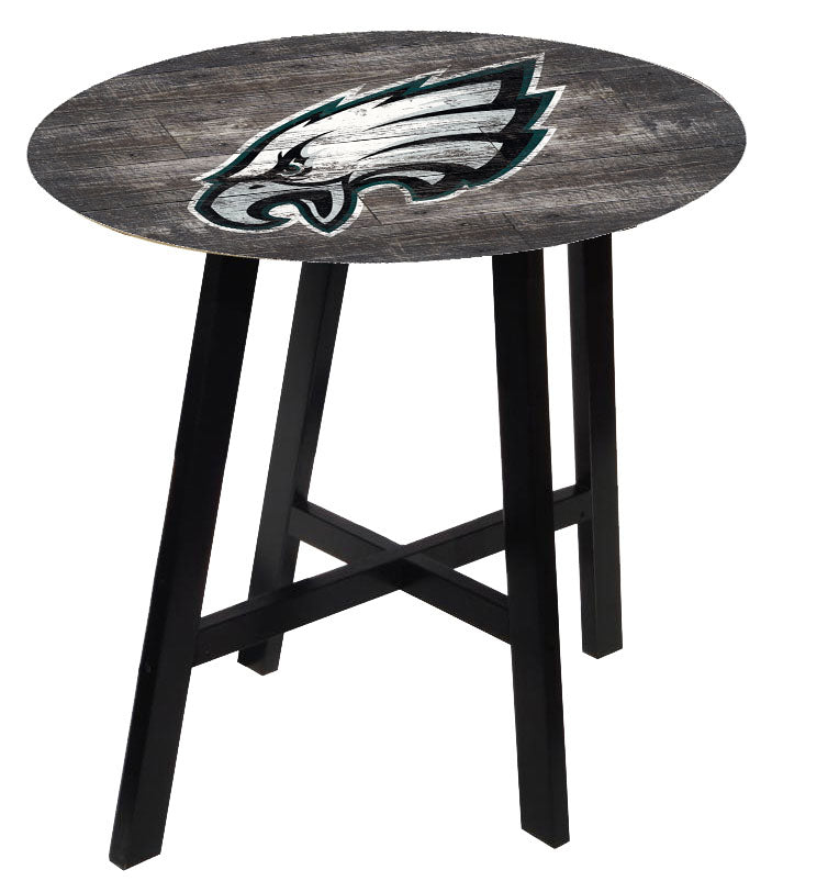 Philadelphia Eagles Distressed Logo Pub Table