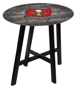 Tampa Bay Buccaneers Distressed Logo Pub Table
