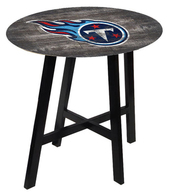Tennessee Titans Distressed Logo Pub Table