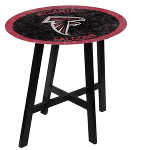 Atlanta Falcons Color Logo Pub Table