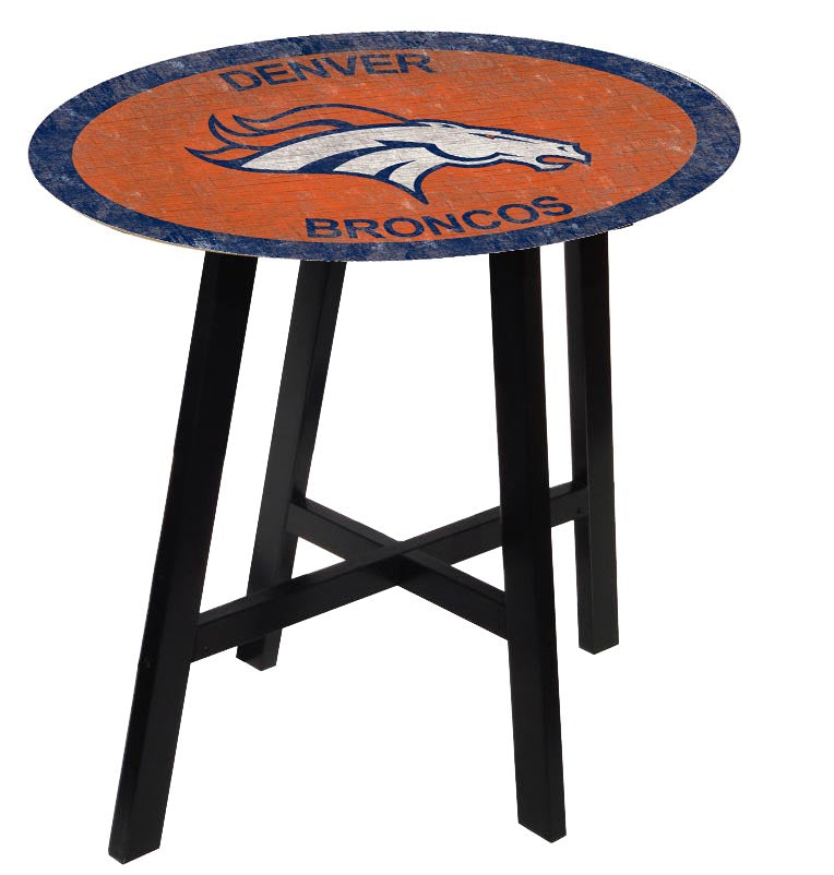 Denver Broncos Color Logo Pub Table