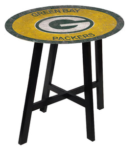 Green Bay Packers Color Logo Pub Table