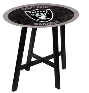 Oakland Raiders Color Logo Pub Table