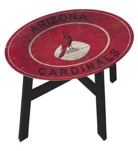 Arizona Cardinals Heritage Logo Wood Side Table