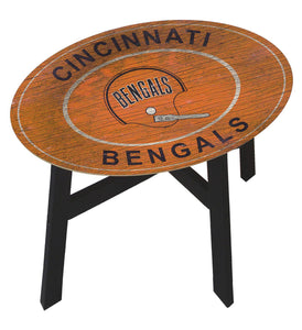 Cincinnati Bengals Heritage Logo Wood Side Table