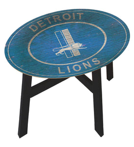 Detroit Lions Heritage Logo Wood Side Table