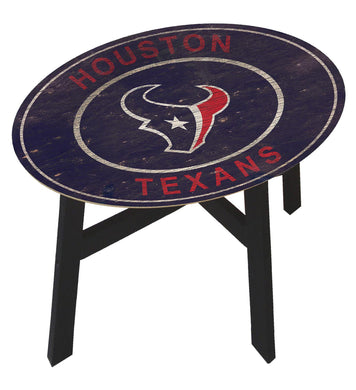 Houston Texans Heritage Logo Wood Side Table