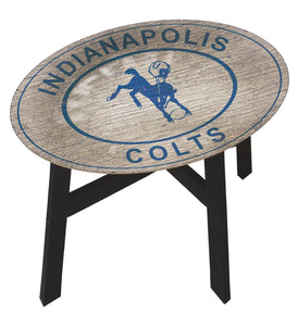 Indianapolis Colts Heritage Logo Wood Side Table