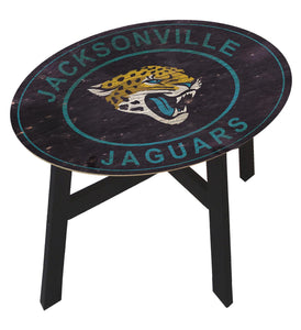 Jacksonville Jaguars Heritage Logo Wood Side Table