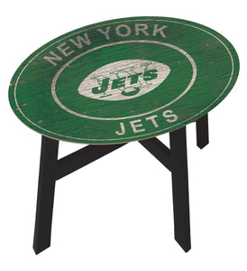 New York Jets Heritage Logo Wood Side Table