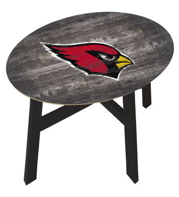 Arizona Cardinals Distressed Wood Side Table