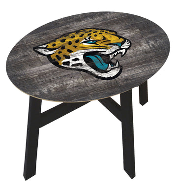 Jacksonville Jaguars Distressed Wood Side Table