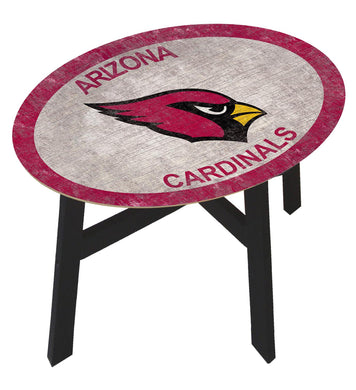 Arizona Cardinals Team Color Wood Side Table