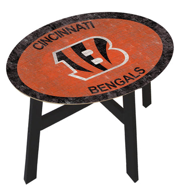 Cincinnati Bengals Team Color Wood Side Table