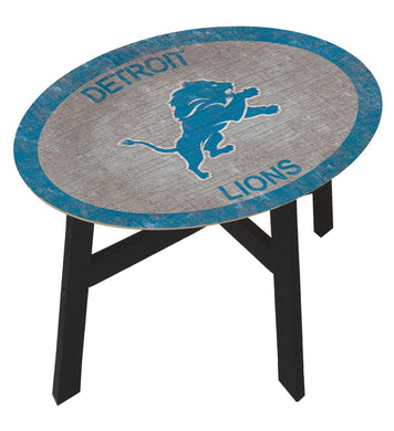 Detroit Lions Team Color Wood Side Table