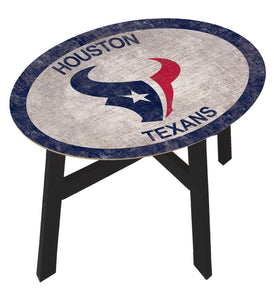 Houston Texans Team Color Wood Side Table